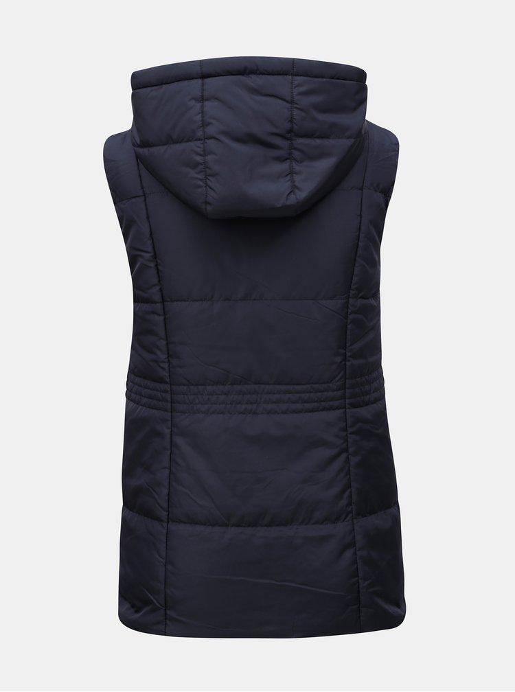 Tmavě modrá prošívaná vesta Yest