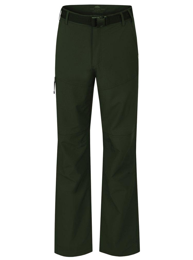 Tmavě zelené pánské funkční voděodolné kalhoty LOAP Udon