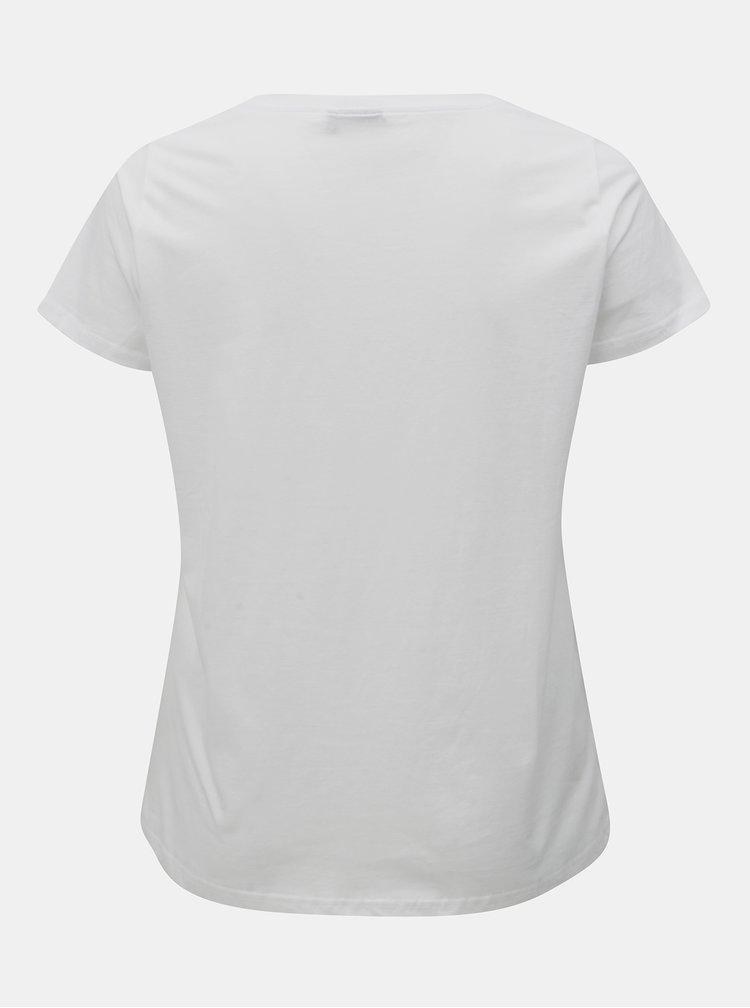 Bílé tričko s nášivkou Zizzi Megla