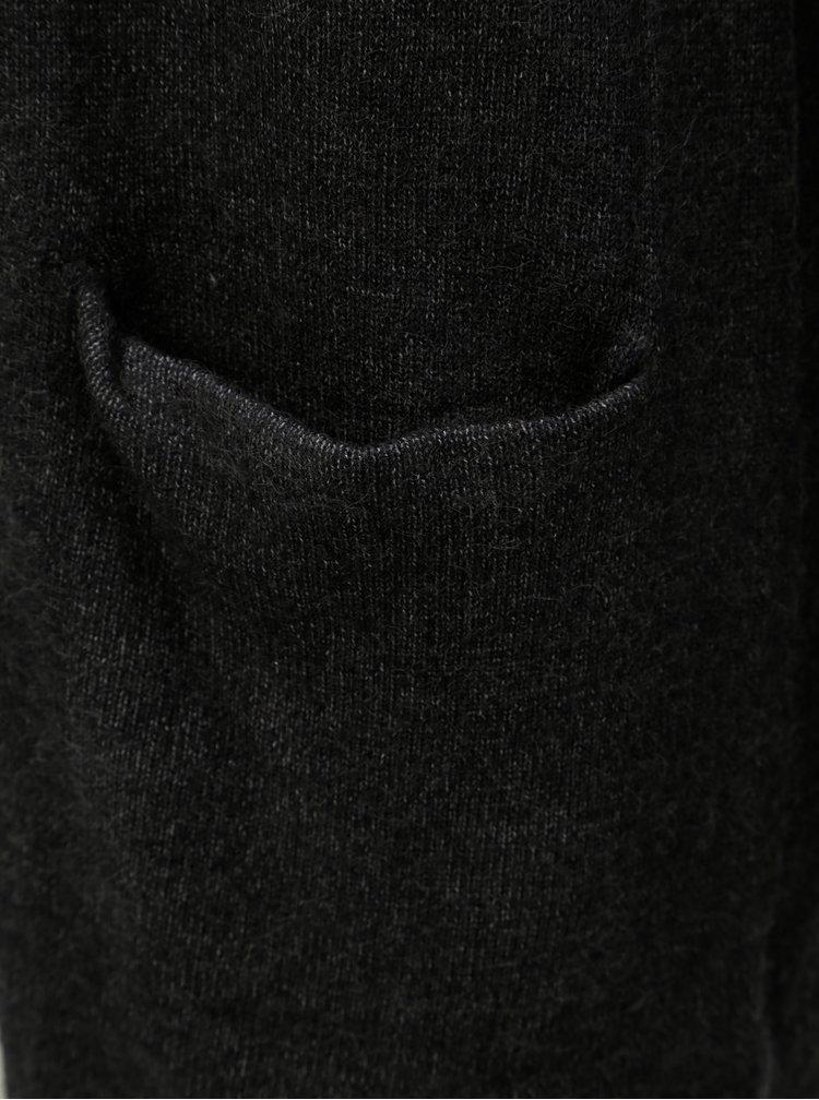 Tmavosivý dlhý kardigan s vreckami VILA Ril