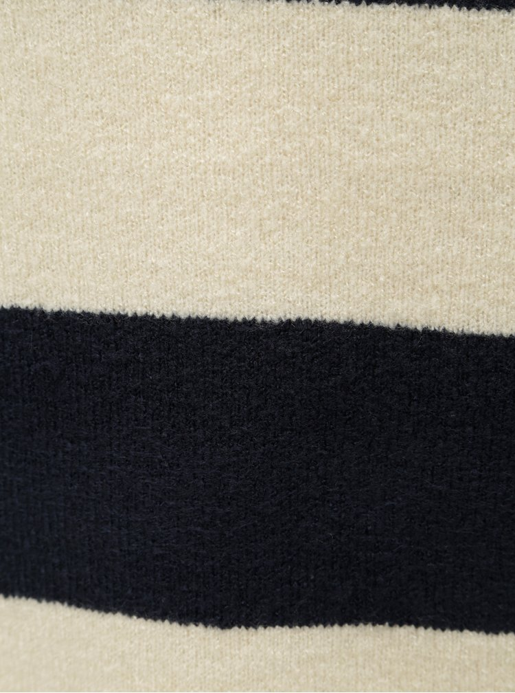 Pulover crem-albastru in dungi VILA Katay