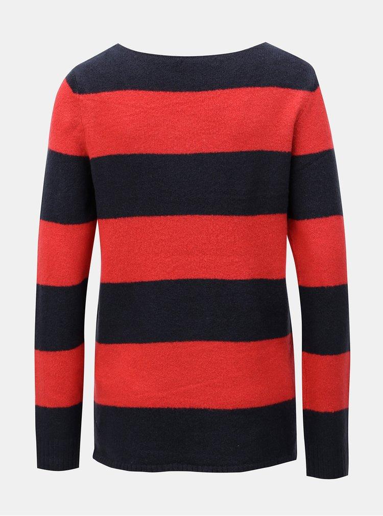 Červeno-modrý pruhovaný svetr VILA Katay