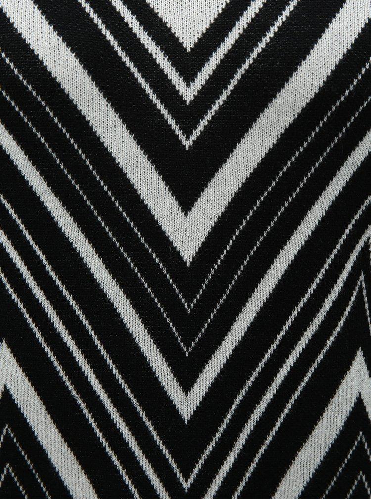 Pulover alb-negru cu model VERO MODA Zigga