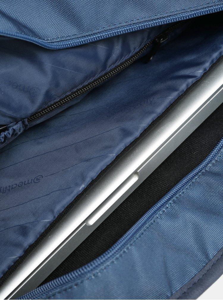 Bílo-modrá pruhovaná kabelka s kapsou na notebook Meatfly Kuna
