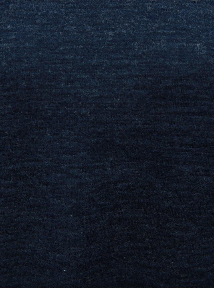 Pulover albastru melanj cu detalii din dantela si guler inalt VERO MODA Penny