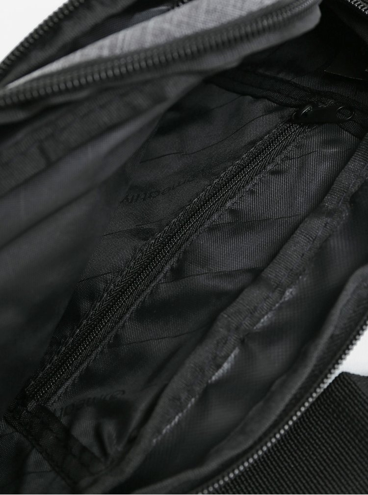 Černo-šedá žíhaná ledvinka s nášivkou Meatfly Wally