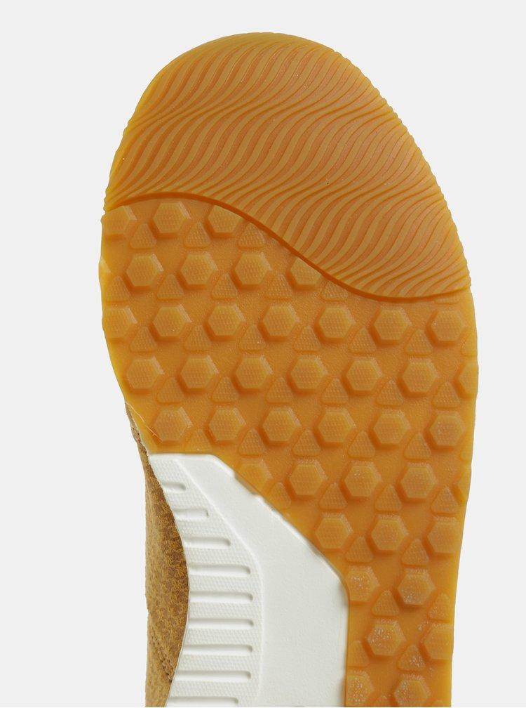 Světle hnědé dámské semišové tenisky Pepe Jeans Koko