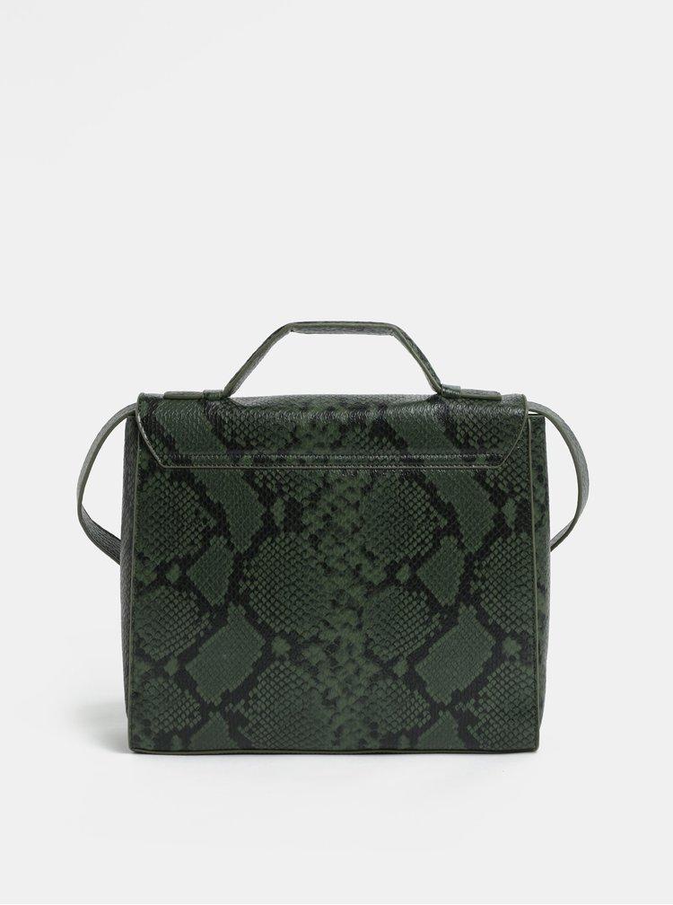 Zelená kabelka s hadím štrukturovaným vzorom VERO MODA Minna