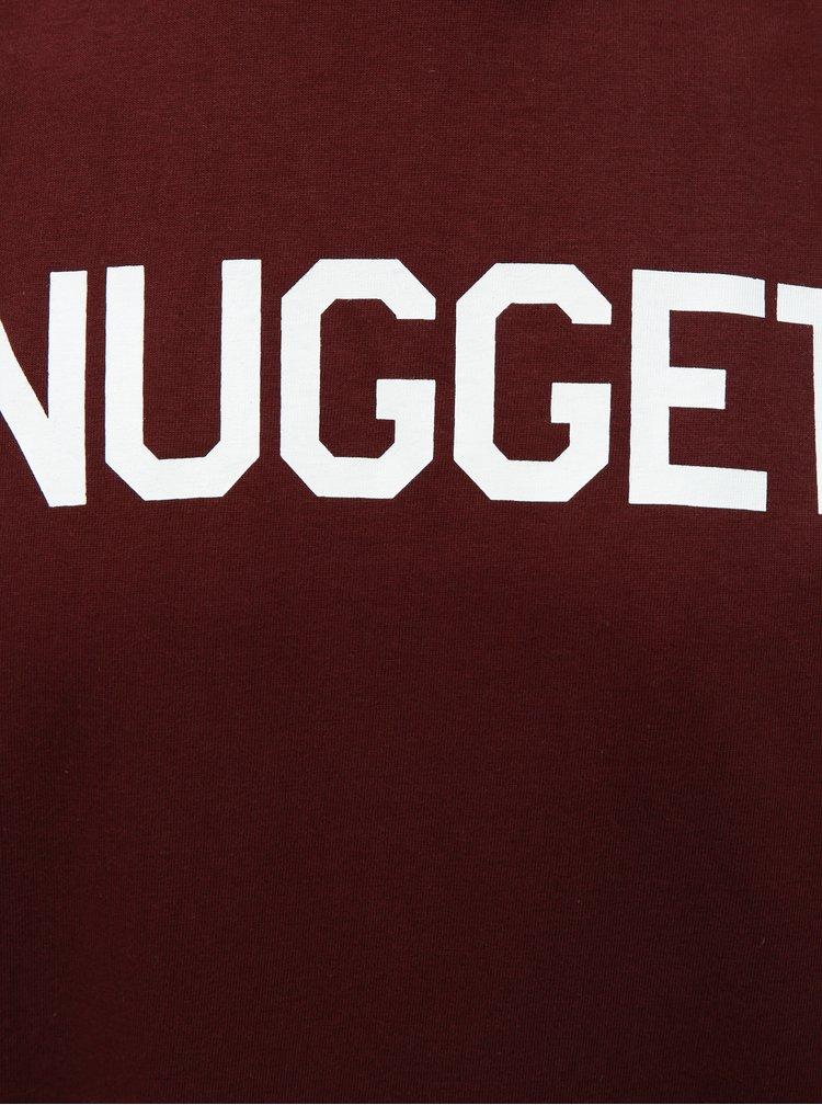 Vínové pánske tričko NUGGET