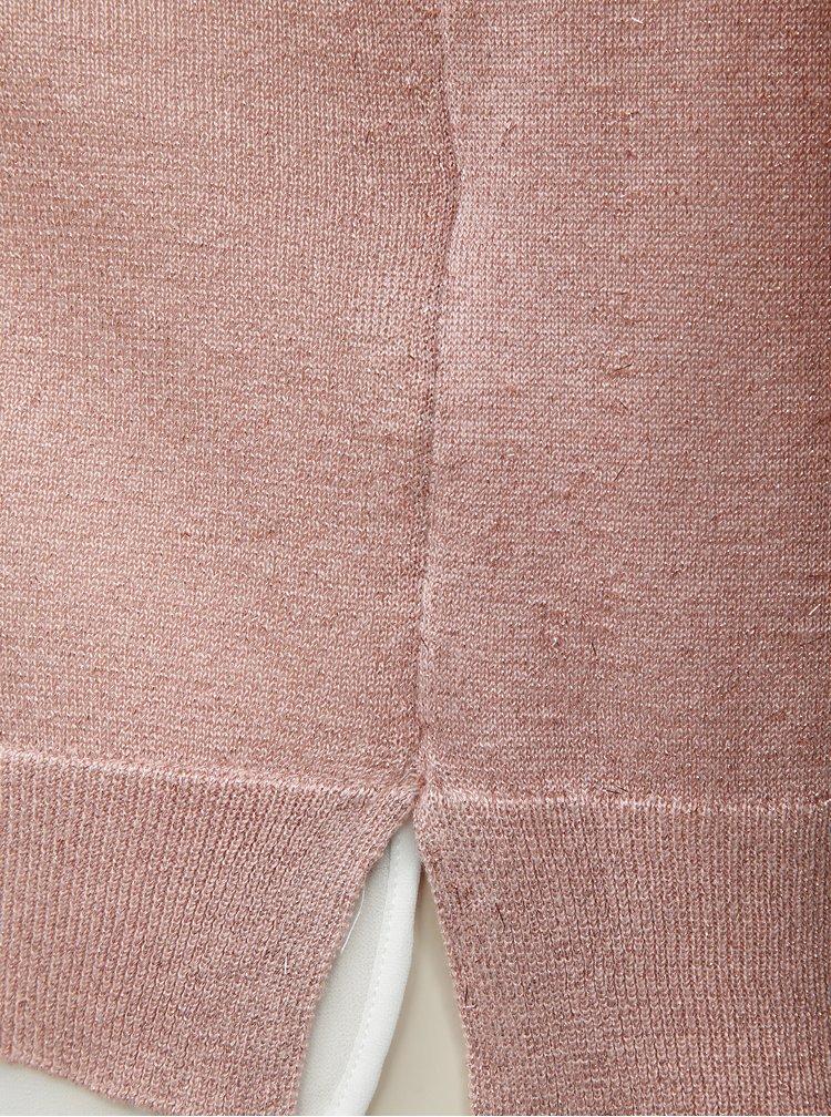 Ružový trblietavý sveter so všitým dielom ONLY Darling
