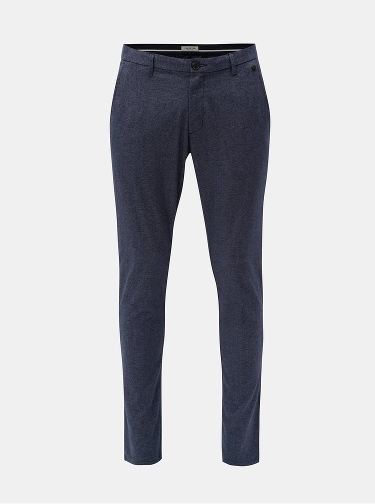 Pantaloni albastri melanj slim fit Selected Homme