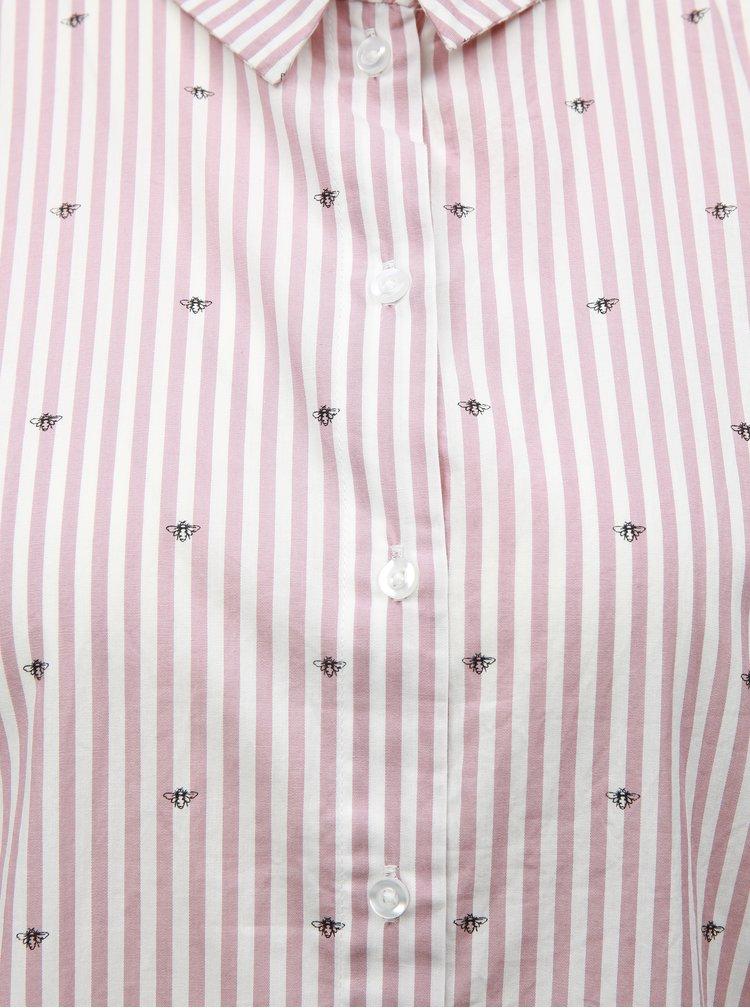 Ružová vzorovaná košeľa Jacqueline de Yong Eddie