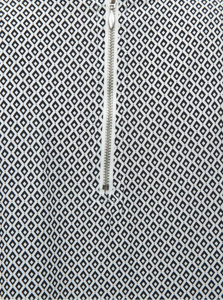 Černo-bílá vzorovaná halenka s 3/4 rukávem ONLY Nova