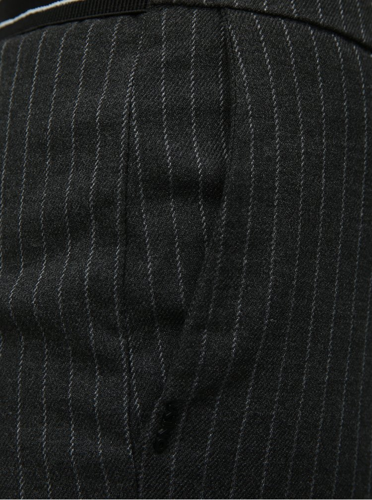 Sivé vzorované skrátené nohavice ONLY Aster