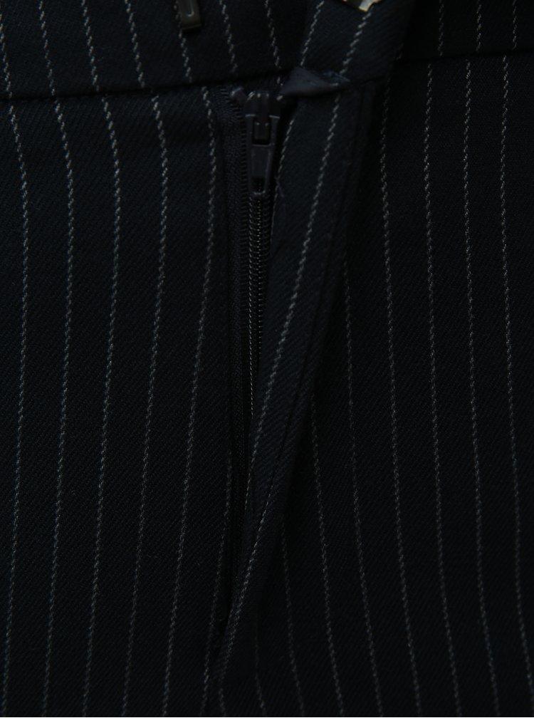 Tmavomodré vzorované skrátené nohavice ONLY Aster