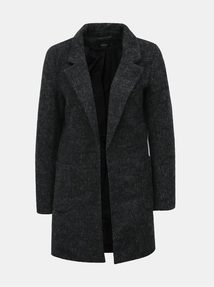 Šedý lehký žíhaný kabát ONLY Baker