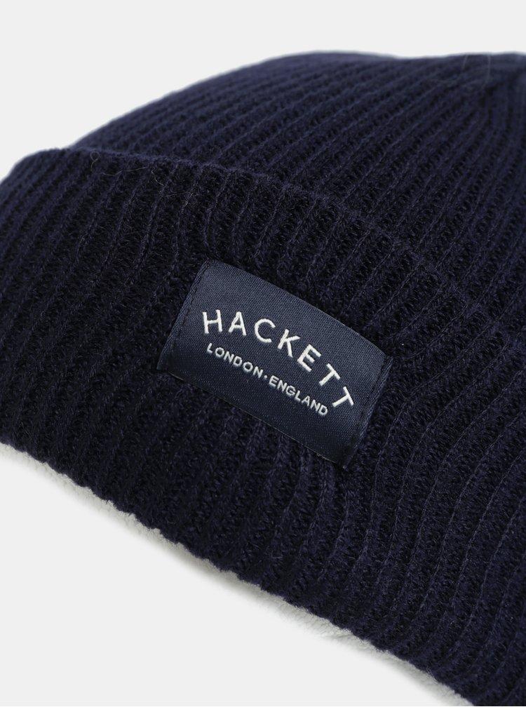 Tmavě modrá čepice s nášivkou Hackett London