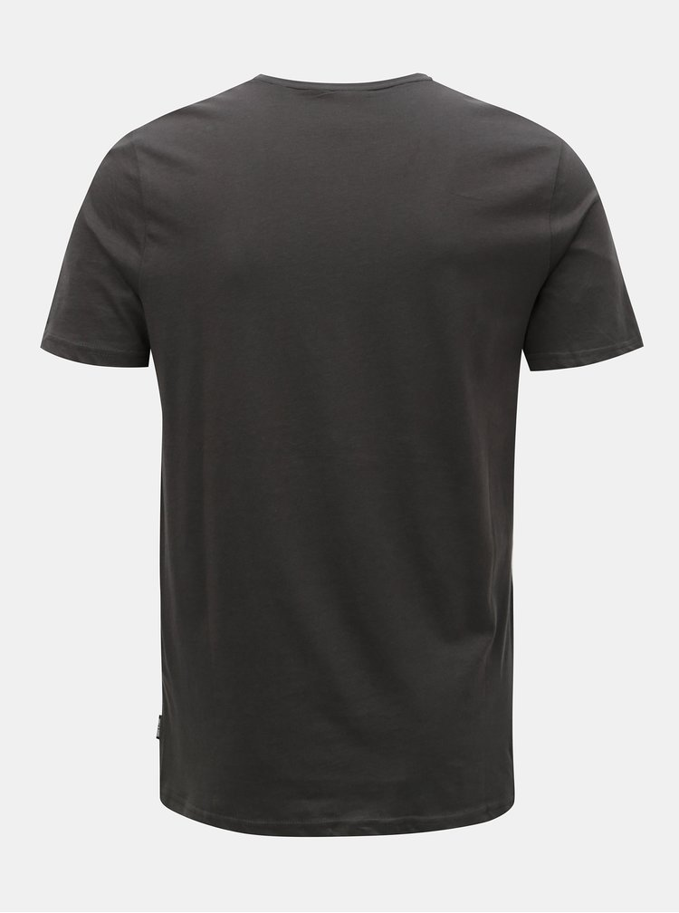 Tmavě šedé tričko s potiskem ONLY & SONS Gideon
