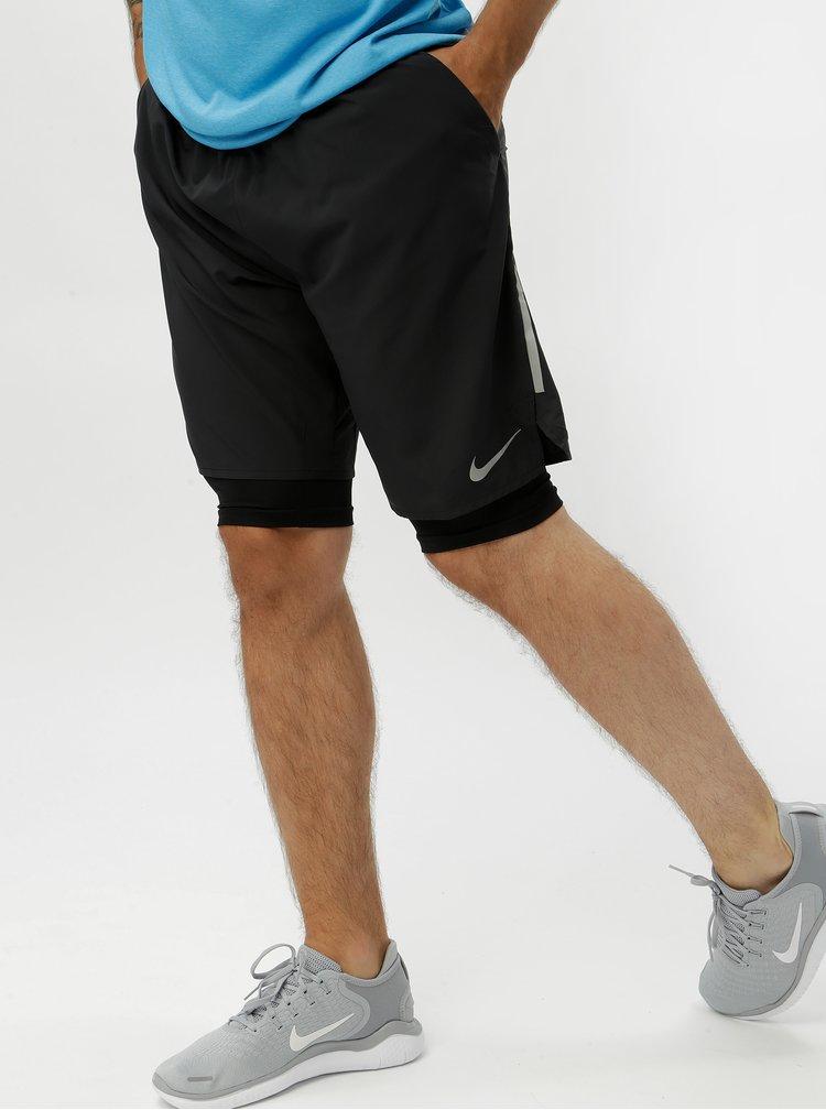Černé pánské funkční standart fit kraťasy Nike Distance