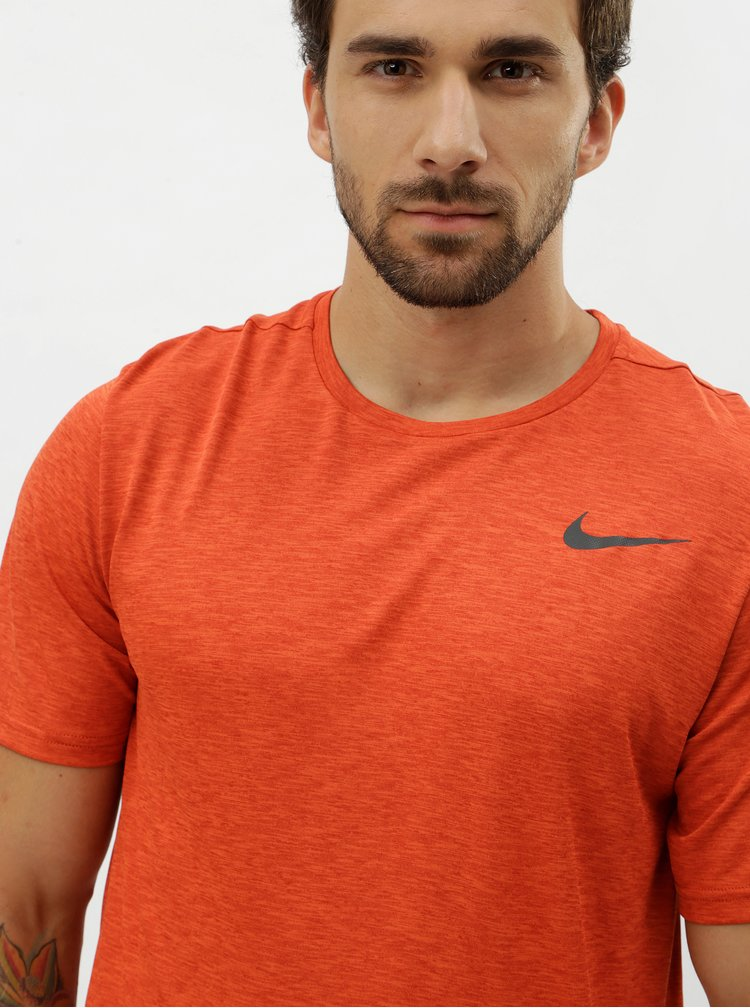 Tricou barbatesc functional caramiziu cu imprimeu logo Nike