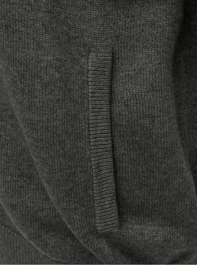 Šedý kardigan s kapsami Fynch-Hatton