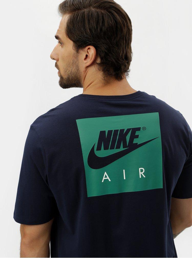 Tmavě modré pánské tričko s krátkým rukávem a potiskem Nike