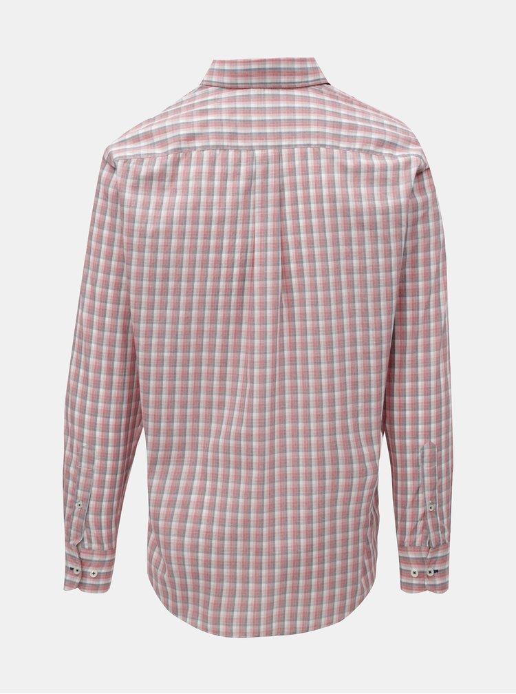 Camasa roz casual fit cu model Fynch-Hatton