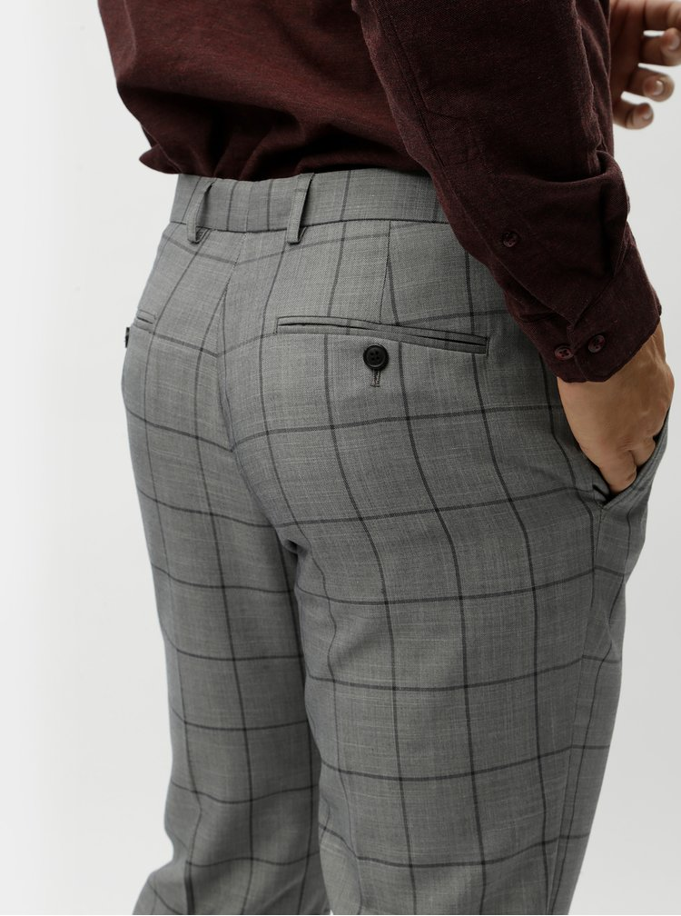 Pantaloni skinny fit gri in carouri Burton Menswear London