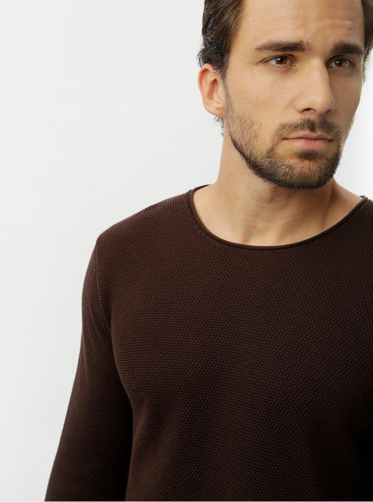 Hnědý basic svetr Selected Homme Rocky