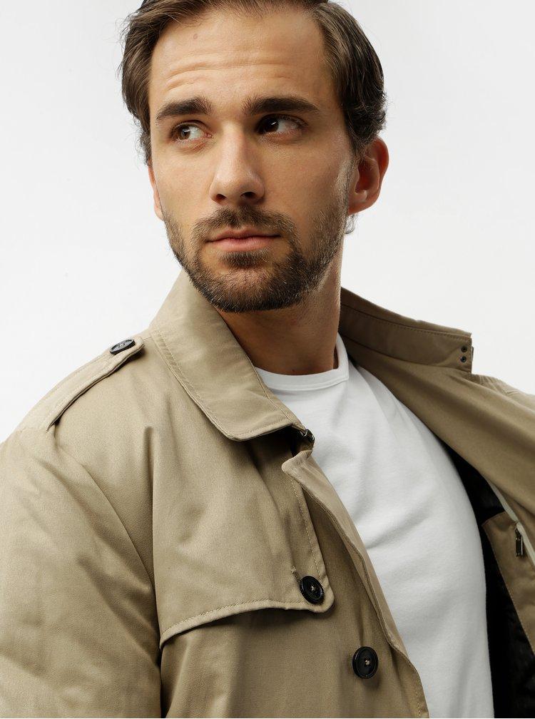 Béžový kabát Selected Homme