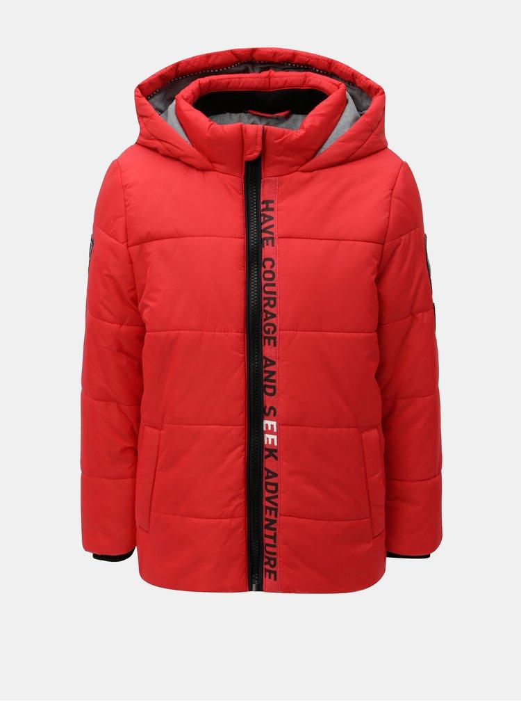 Červená klučičí zimní prošívaná bunda Name it Maxim