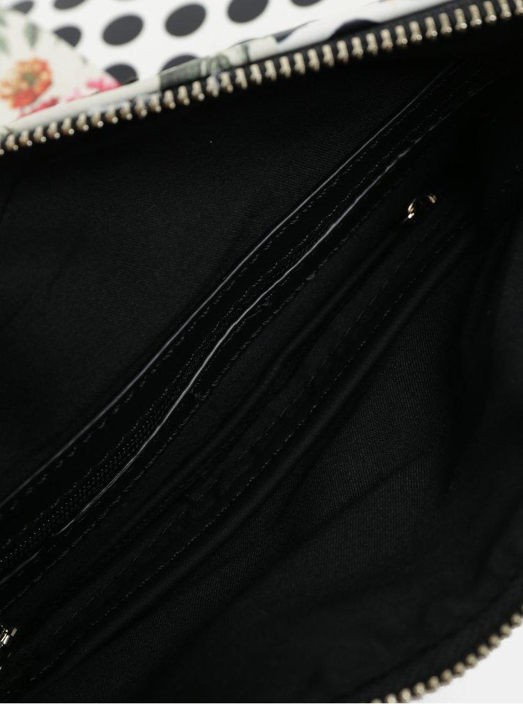 Krémovo-červená vzorovaná crossbody kabelka Desigual Tripatch