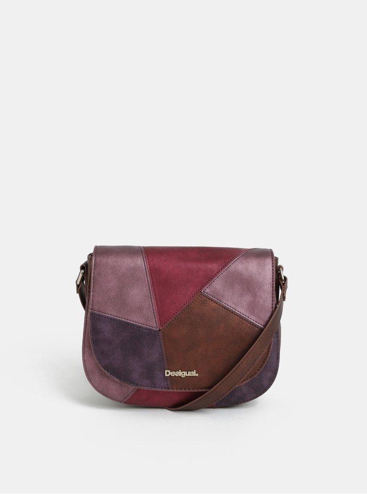 Růžovo-fialová crossbody kabelka Desigual Ares
