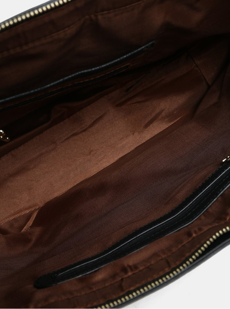 Černo-hnědá vzorovaná kabelka Desigual Ares