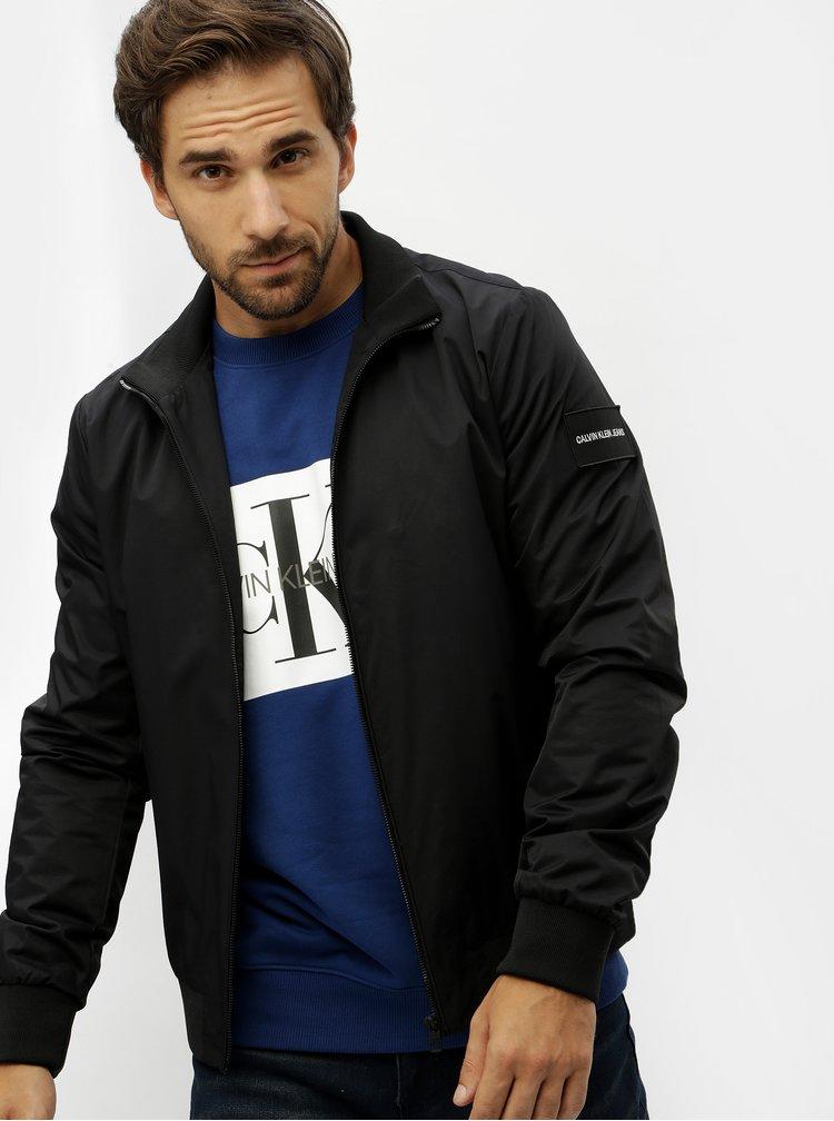 Černý pánský bomber s nášivkou Calvin Klein Jeans