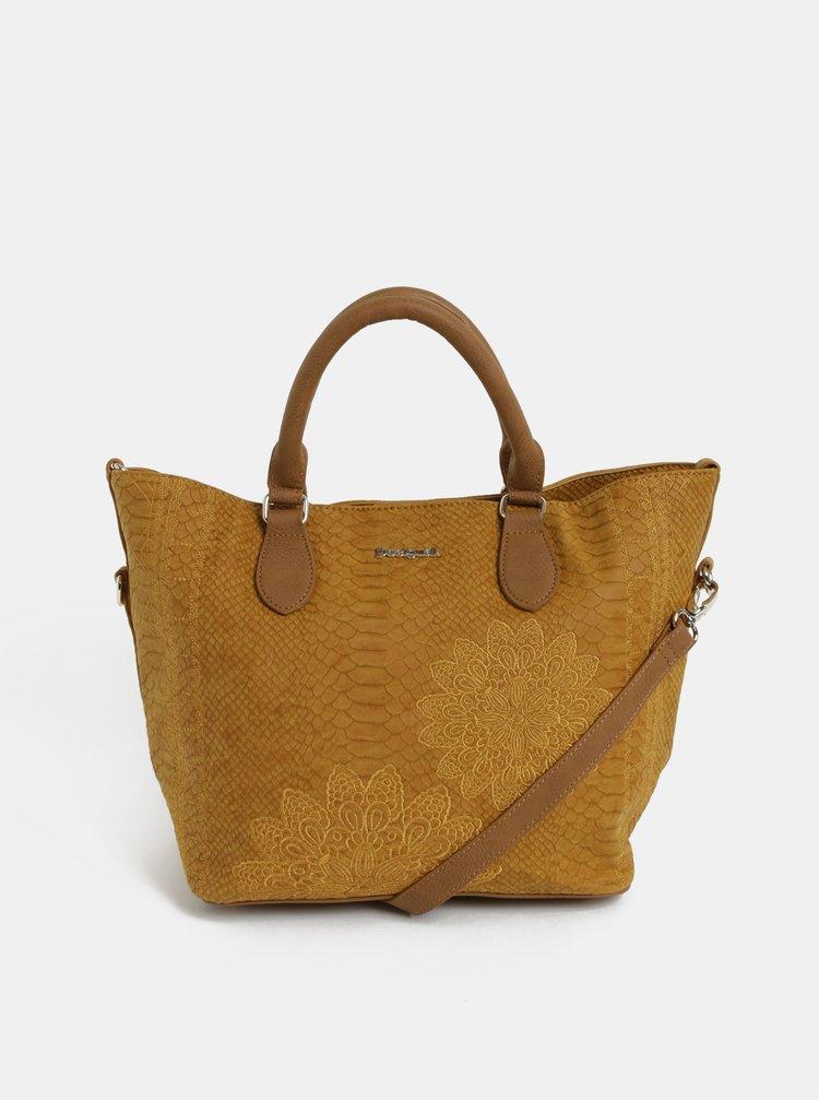 Hnedá vzorovaná kabelka s puzdrom Desigual Aquiles