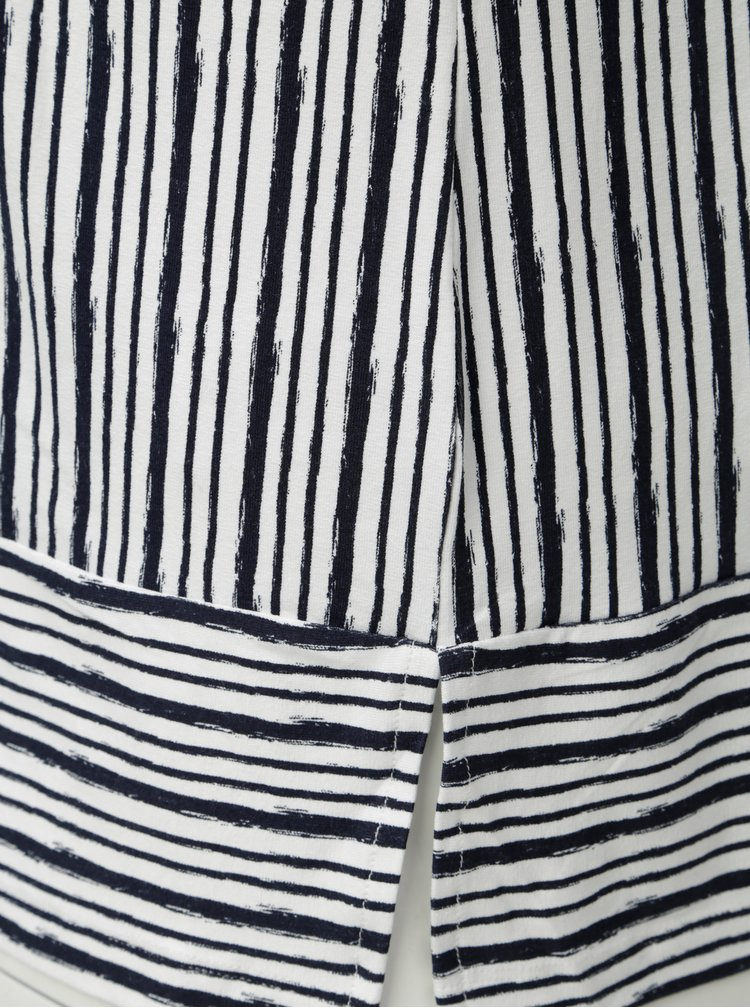 Tricou albastru-alb in dungi Ulla Popken
