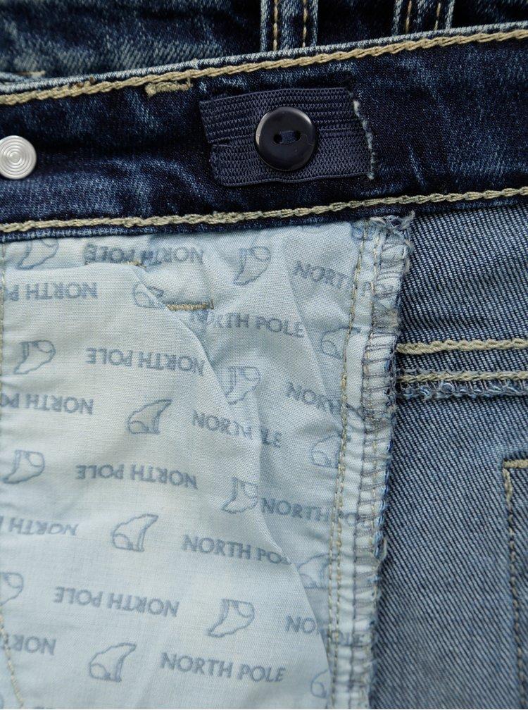 Modré klučičí džíny s asymetrickým zapínáním North Pole Kids