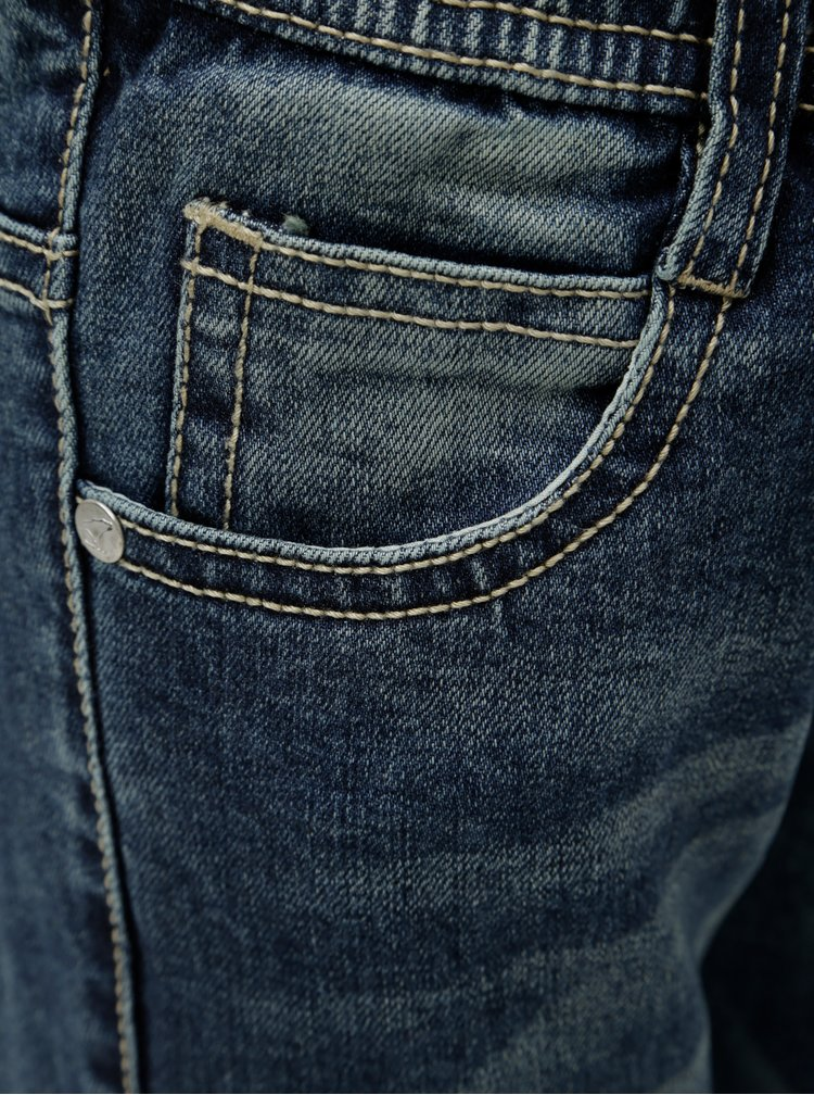 Modré klučičí džíny s vyšisovaným efektem North Pole Kids