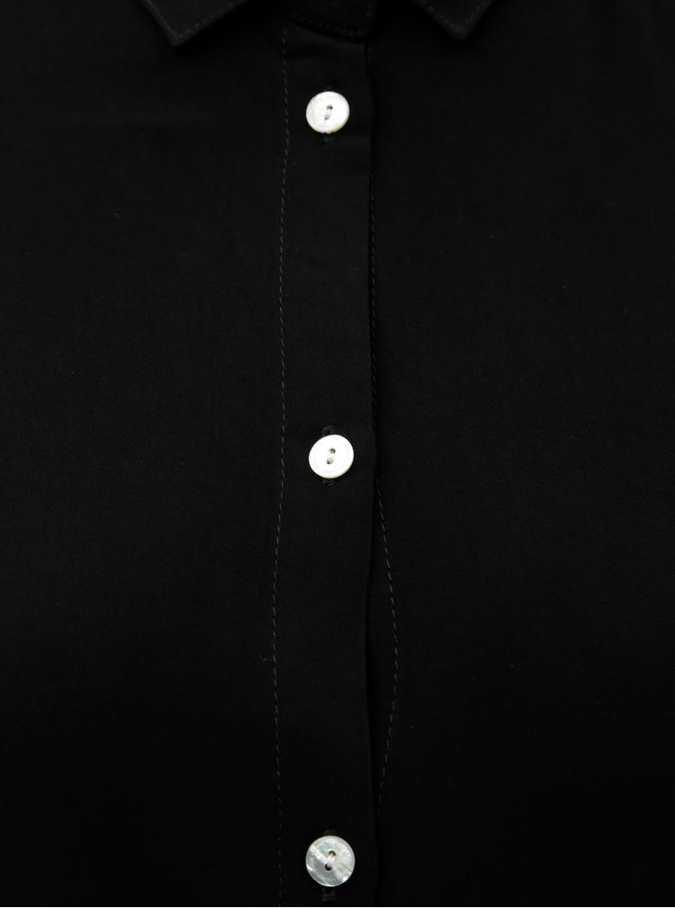 Černá košile se zavazováním na rukávech Yerse