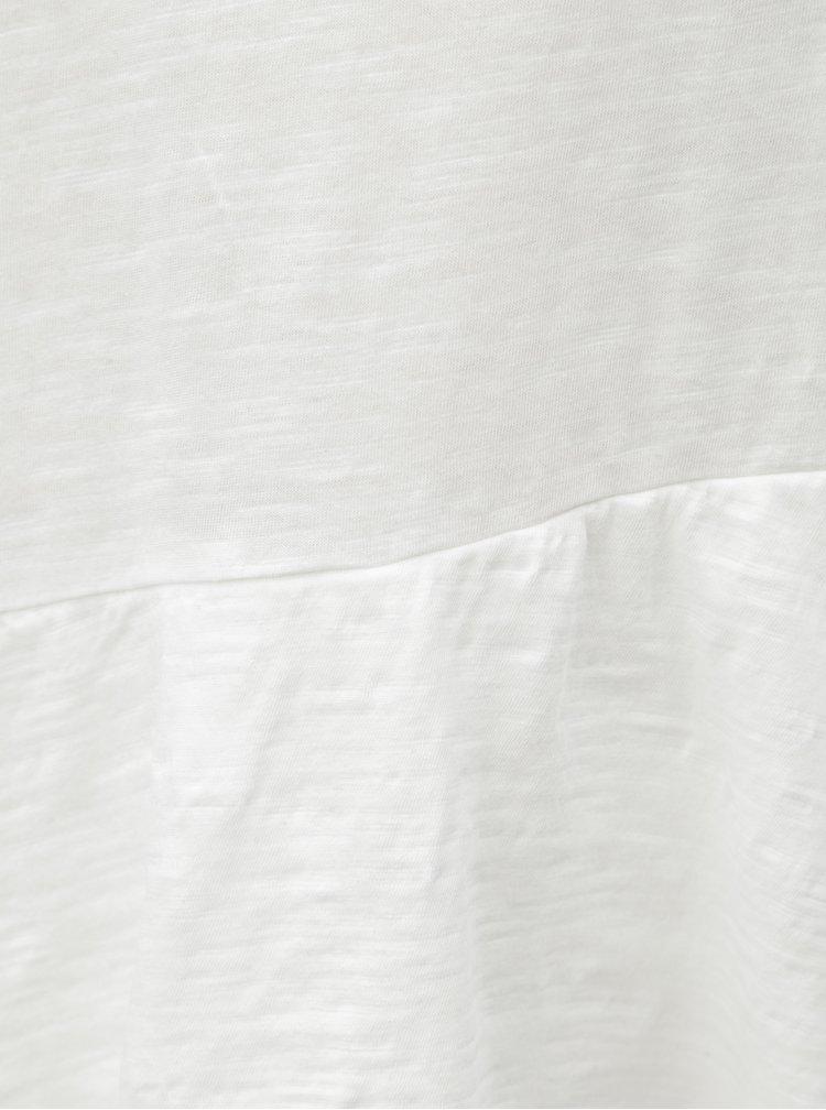 Bílé volné tričko s volánem Yerse