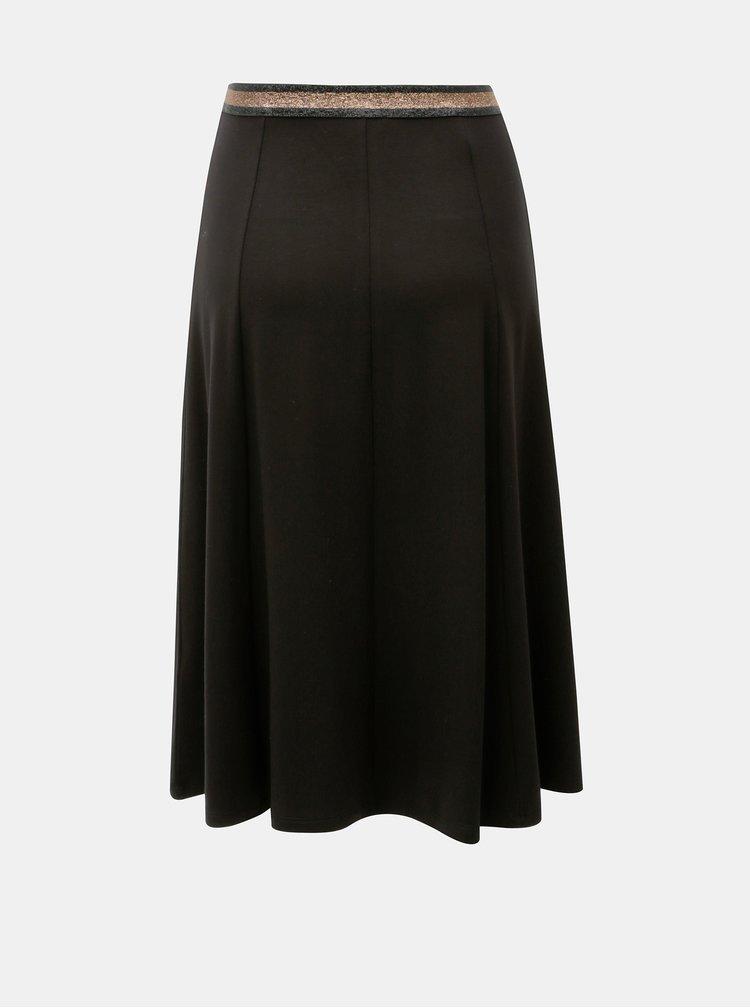 Černá sukně s třpytivým pasem Yerse