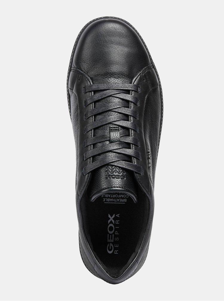 Černé pánské kožené tenisky Geox Keiland