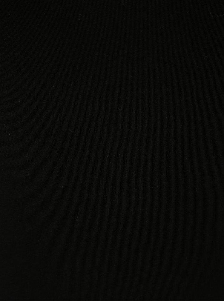 Černé basic tričko s prodlouženou délkou a dlouhým rukávem Yest