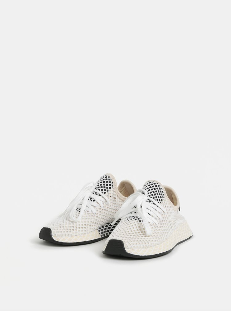 Tenisi de dama crem adidas Originals Deerupt Runner