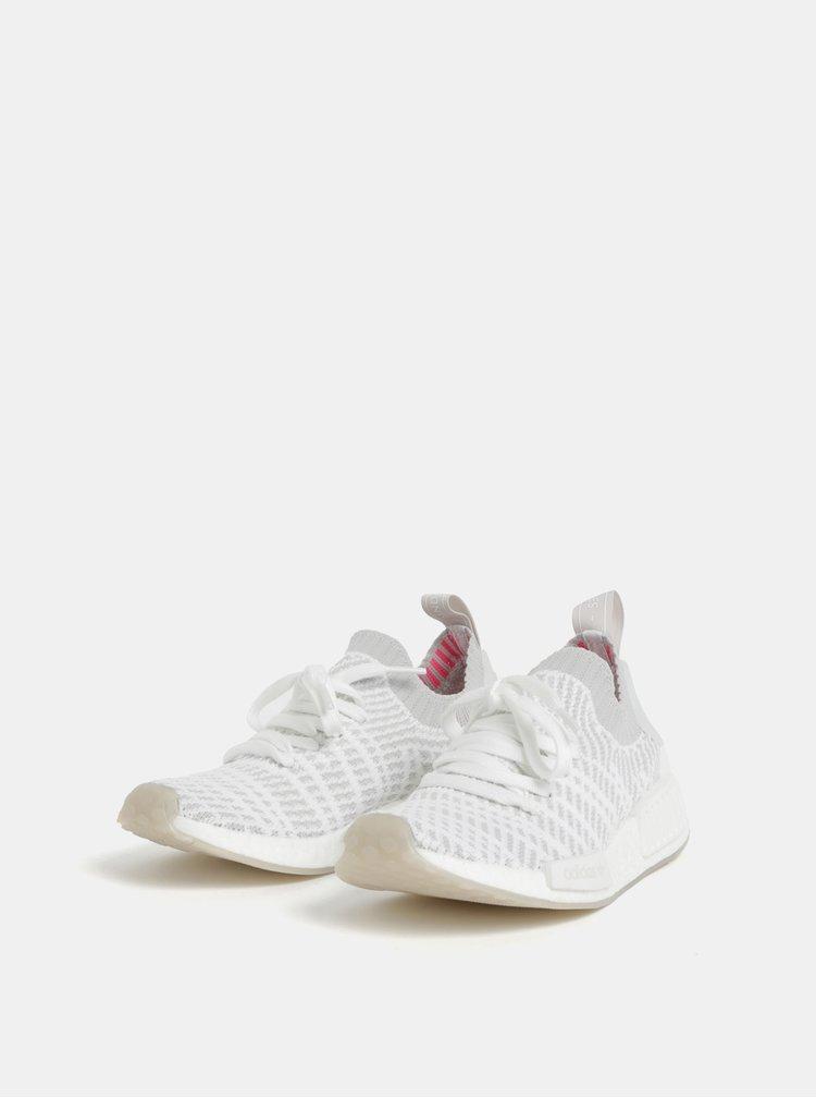 Sivo-biele dámske tenisky adidas Originals Primeknit