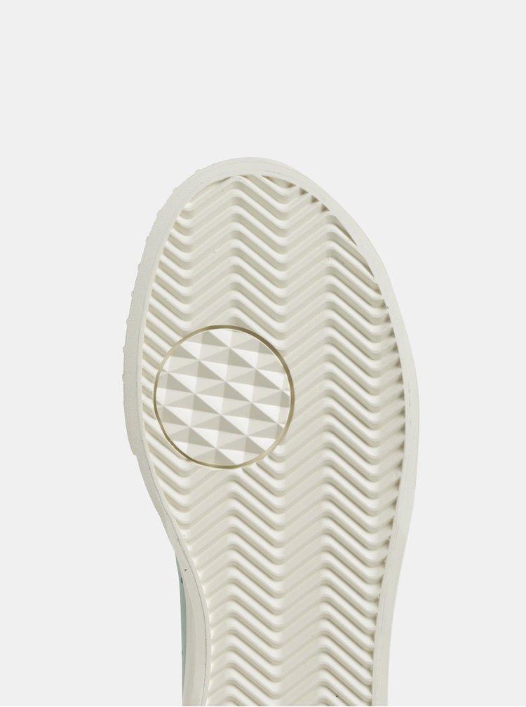 Mentolové dámske kožené tenisky adidas Originals Everyn