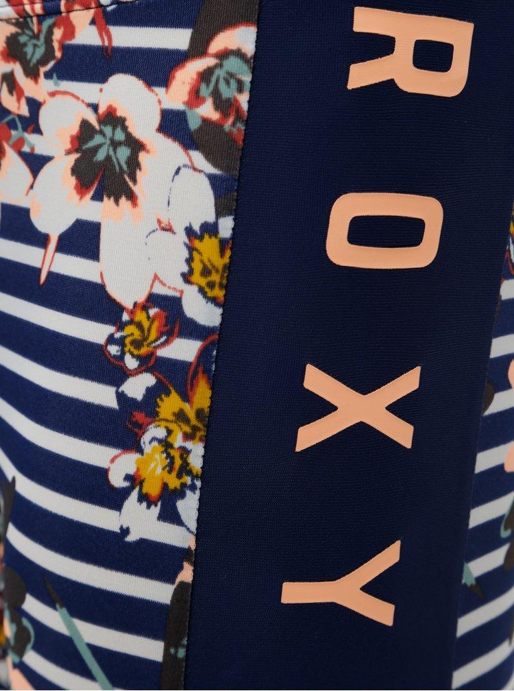 Modré holčičí pruhované legíny s UPF filtrem Roxy