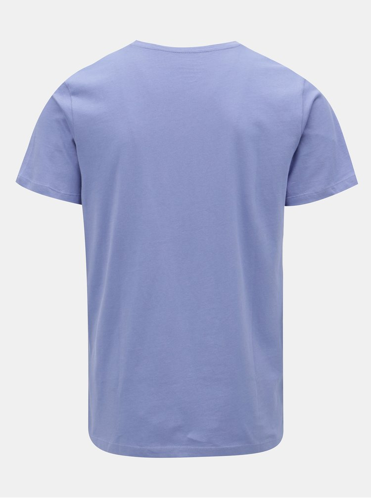 Světle modré regular tričko s potiskem Jack & Jones Rail Road