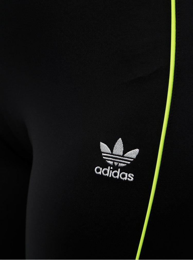 Černé legíny s pruhy adidas Originals